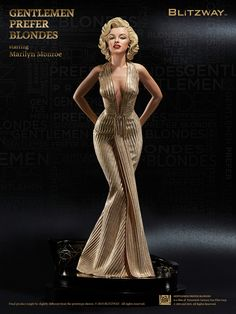 Gentlemen Prefer Blondes 1953 - Marilyn Monroe Superb Scale Statue by Blitzway 1 Marilyn Monroe Stil, Fotos Marilyn Monroe, Estilo Marilyn Monroe, Marilyn Monroe Portrait, Marilyn Monroe Body, Vintage Hollywood, Hollywood Glamour, Hollywood Makeup, Hollywood Hair