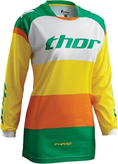 Thor 2016 Phase Bonnie Green/Yellow Womens Jersey