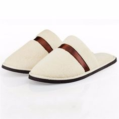 Stripe Color Match Flat Slip On Indoor Home Slippers - Gchoic.com