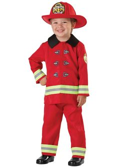 AmazonSmile: Toddler Fireman Costume: Clothing