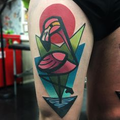 Tattoo artist Mike Boyd - authors style color cubism tattoo | UK