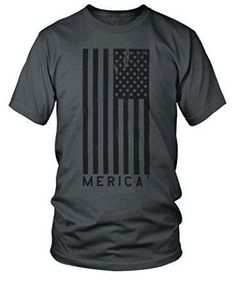 """Merica"" T-Shirt with Large American Flag"