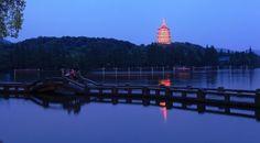 the lake at night Hangzhou, West Lake, China, Night, Porcelain, Porcelain Ceramics