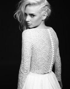 Rime Arodaky - Robes de mariees sur mesure  - Paris - collection 2015 - Top Timothy - Jupe Sutton