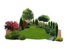 Check out new work on my Behance portfolio Small Family Garden - small front yard landscaping ideas Family Garden, Backyard Landscaping, Landscape Design, Garden Shrubs, Outdoor Gardens, Garden Layout, Garden Planning, Garden Landscaping, Garden