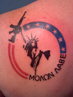 5080a4775 What does molon labe tattoo mean? We have molon labe tattoo ideas, designs,  symbolism and we explain the meaning behind the tattoo.