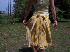 Circle Skirt from Thrift Store Sheets. :) I must make some of these!