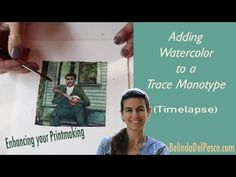 Painting a Trace Monotype with Watercolor - Timelapse - YouTube