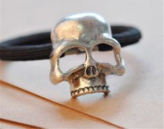 Excited to share the latest addition to my shop: Silver Skull Hair Elastic Rings For Men, Skull, Hair Accessories, Trending Outfits, Unique Jewelry, Handmade Gifts, Silver, Etsy Shop, Vintage