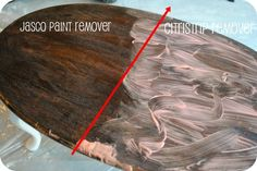 PBJstories: Stripping wood furniture: My how to & a lesson learned When to strip, how to stain wood, diy, citristrip Stripping Wood Furniture, Painted Furniture, Stripping Stained Wood, Stripping Paint From Wood, Refurbished Furniture, Furniture Projects, Furniture Makeover, Diy Furniture, Furniture Update