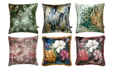 New Range Of Bold & Funky Cushions Now Available To Hire Funky Cushions, Floral Cushions, Printed Cushions, Velvet Cushions, Scatter Cushions, Throw Pillows, Chesterfield Style Sofa, Velvet Furniture, Metallic Prints