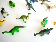 magnets made from dinosaurs or other plastic things