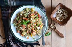 An Edible Mosaic » Meals in Minutes — Leftover Grilled Veggie & Bulgur Wheat Lunch