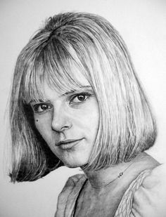 France Gall & Manvale Drawings, portraits from photos France Gall, Portrait Au Crayon, High School Art Projects, Art Inspiration Drawing, Paper Drawing, Portraits From Photos, Jolie Photo, Street Art, Actresses