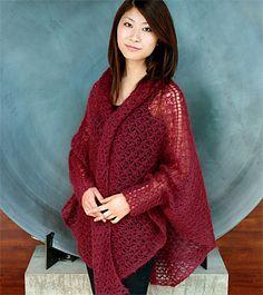 Cuffed Lace Kimono pattern by Flora Yang. Free.