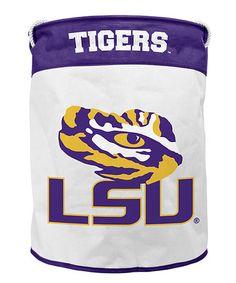 LSU Tigers Canvas Laundry Bag #zulily #zulilyfinds