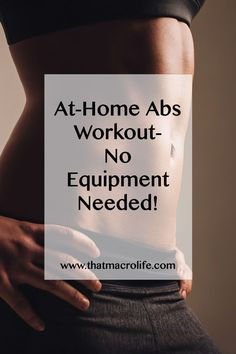 No Gym Required! At home ab workout. Do this 2-3 times a week combined with hiit cardio and a good diet and you can have some killer abs!