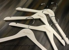 Engraved Dress Hangers Bridal Party by OriginalBridalHanger
