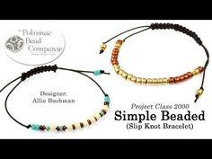 How to Make a Bracelet with Slide Knots - YouTube