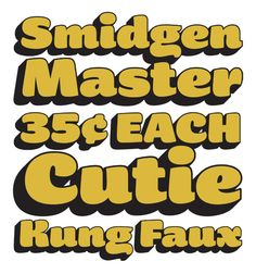 Smidgen by Ken Barber for House Industries #TDC2012