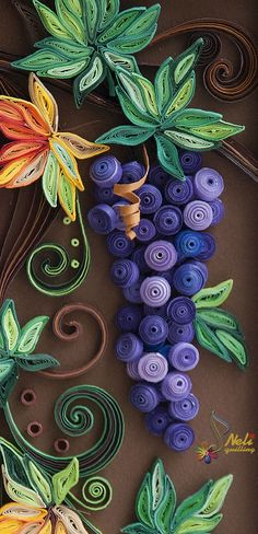 Quilled grapes. Neli Quilling