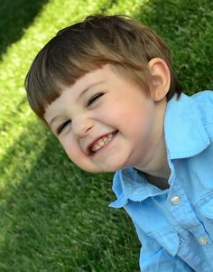 adorable big smile 3 year old boy