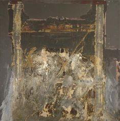 thunderstruck9: Antoni Tàpies (Spanish, b. 1923), Arquitectura, 1963. Oil and sand on canvas, 163 x 163 cm. via artpropelled