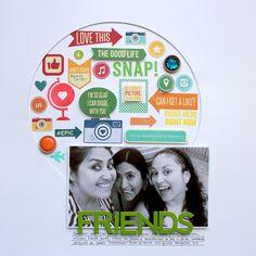 Friends - Taller RevesDerecho 21/03  #scrapbook #scrapbooking @jillibeansoup