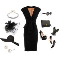 Little Black Dress, created by bevjenk52.polyvore.com