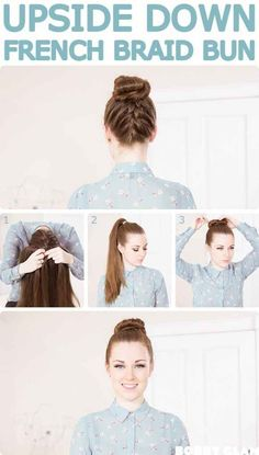 Because you're probably getting your hair off your neck everyday, try this pretty variation on your go-to top knot to mix things up! | 16 Brilliant Summer Hair Hacks You Never Knew You Needed