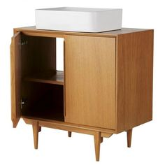 This furniture product is made of FSC certified wood. This label guarantees that the wood comes from a responsibly managed forest; Lavabo Vintage, Vintage Vanity, Portobello, Vanity Units, Credenza, The Unit, Cabinet, Doors, Storage