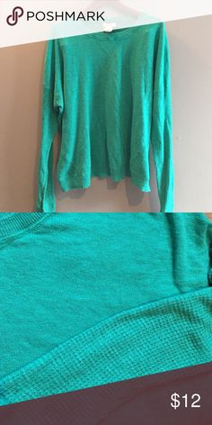 Green sweater sz XL from SO.  Super soft cotton SO sweater in green.  Long sleeves.  Super soft cotton.  Washed and wears great.  Worn a half dozen times. SO Tops