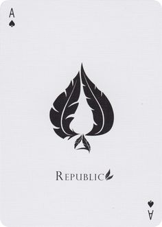 The Ace of Spades fro Republic #2 Playing Cards