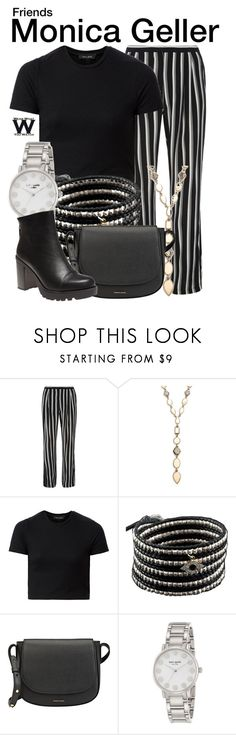 """""""Friends"""" by wearwhatyouwatch ❤ liked on Polyvore featuring Dorothy Perkins, Melinda Maria, Chan Luu, Mansur Gavriel, Kate Spade, Wet Seal, television and wearwhatyouwatch"""