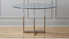 silverado chrome 72 rectangular dining table chrome modern and rh pinterest com