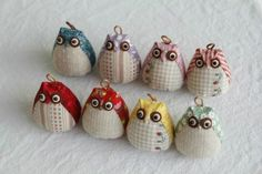 Easy step to step tutorial how to sew a pretty owl. Owl Sewing, Sewing Toys, Free Sewing, Sewing Crafts, Sewing Projects, Tape Crafts, Animal Sewing Patterns, Owl Patterns, Quilt Patterns