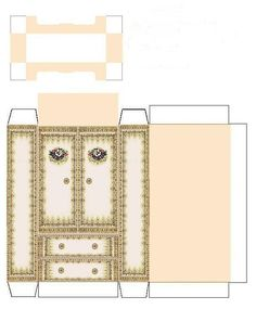 Paper doll house furniture patterns