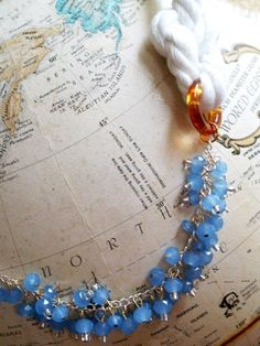 Follow these step by step instructions to make a knockoff of the Anthropologie Set Ashore Necklace for a fraction of the cost of the original.