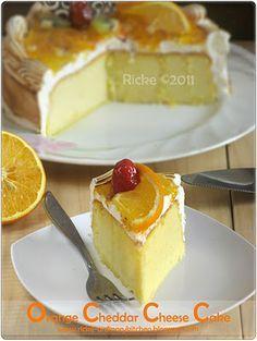 Just My Ordinary Kitchen...: ORANGE CHEDDAR CHEESE CAKE