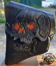 st 08 schwingentasche skull mit flaschenhalter braun f r. Black Bedroom Furniture Sets. Home Design Ideas