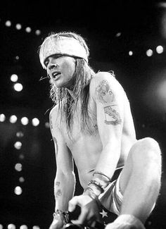 Axl Rose of Guns N' Roses, early 90s