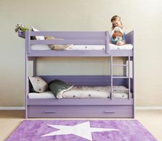 Cometa Bunk bed with frieze 90cm by Room planner exists in plenty of colours and finishes available online and in our store www.bobokids.co.uk