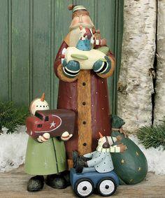 Santa & Vintage Toys Figure by Williraye Studio #zulily #zulilyfinds