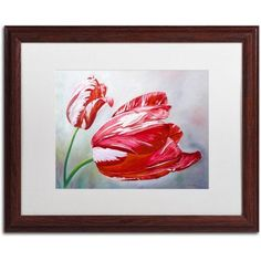 trademark fine art english tulips canvas art by lily van bienen white matte wood - Wood Frames For Canvas Paintings