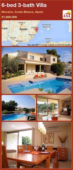 6-bed 3-bath Villa in Moraira, Costa Blanca, Spain ►€1,600,000 #PropertyForSaleInSpain