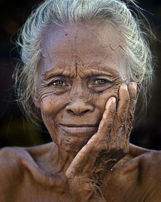 Grand Lady by Arif Kaser - A Grand Old Sea Gypsy Lady Of Mabul island, Semporna, Sabah