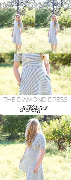 The Diamond Dress | handmade dresses | fall fashion for women | fall style ideas | fall fashion | fall style tips | cool weather fashion | handmade clothing ideas || See Kate Sew