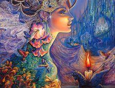 Ideas For Mother Nature Goddess Art Josephine Wall Josephine Wall, Fantasy Princess, Fantasy Girl, Nature Artwork, Goddess Art, Fantasy Kunst, Diy Crystals, Beautiful Fairies, Beautiful Artwork