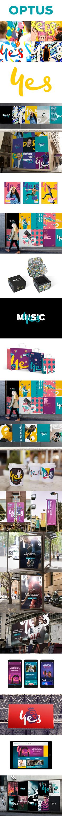 Optus logo and brand identity by Re