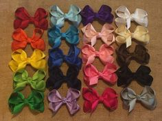 """Basic Hair Bow, Boutique Hair Bows, Solid Color Hair Bow, Simple Hair Bows, Boutique Hair Bow, 3"""" Hairbow, Solid Color Bow, Boutique Hairbow by BBgiftsandmore on Etsy"""